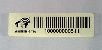 TTF Windshield RFID tag | TTF Bend it durable flexible RFID tag