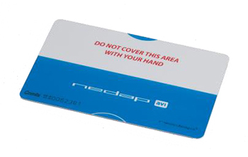 RFID cards for parking applications