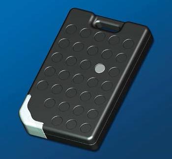 Rugged temperature sensing BAP RFID tags