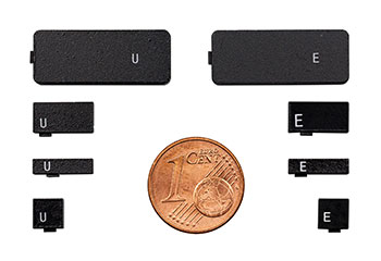Tiny and rugged LF HF UHF RFID tags